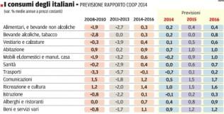 consumi italiani 2014