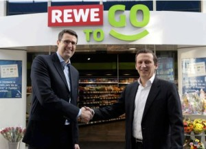 Patrick Wendeler, CEO Aral e Lionel Souque, CEO REWE