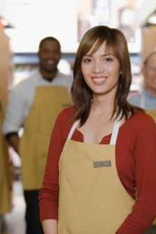 Portrait of sales assistant